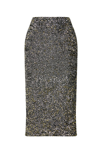 Oasis, SEQUIN PENCIL SKIRT Silver 0