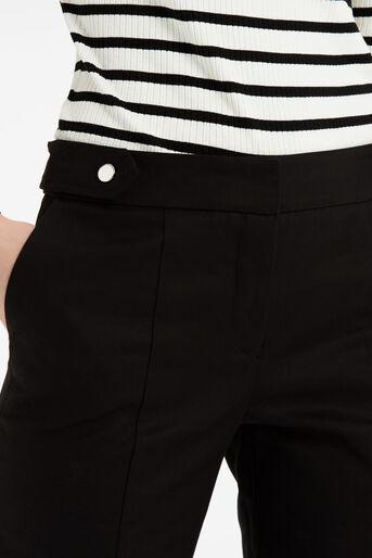 Oasis, Cotton Trouser - Shorter Lengt Black 4
