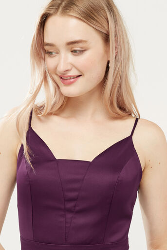 Oasis, SATIN TULIP CAMI DRESS Berry 4