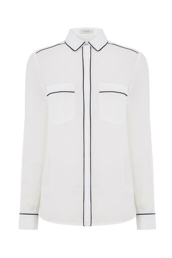 Oasis, PIPED SHIRT Off White 0