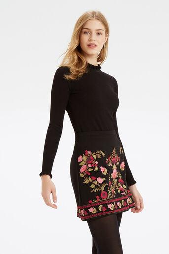 Oasis, Cute Frill Knit Black 1