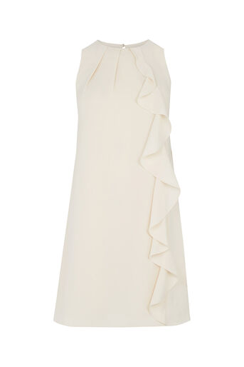 Oasis, Frill Front Tunic Dress Off White 0