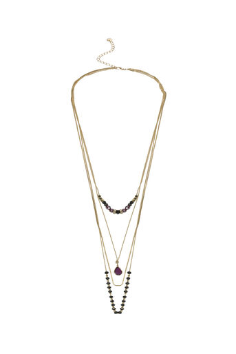 Oasis, THREE ROW BEADED NECKLACE Gold 0