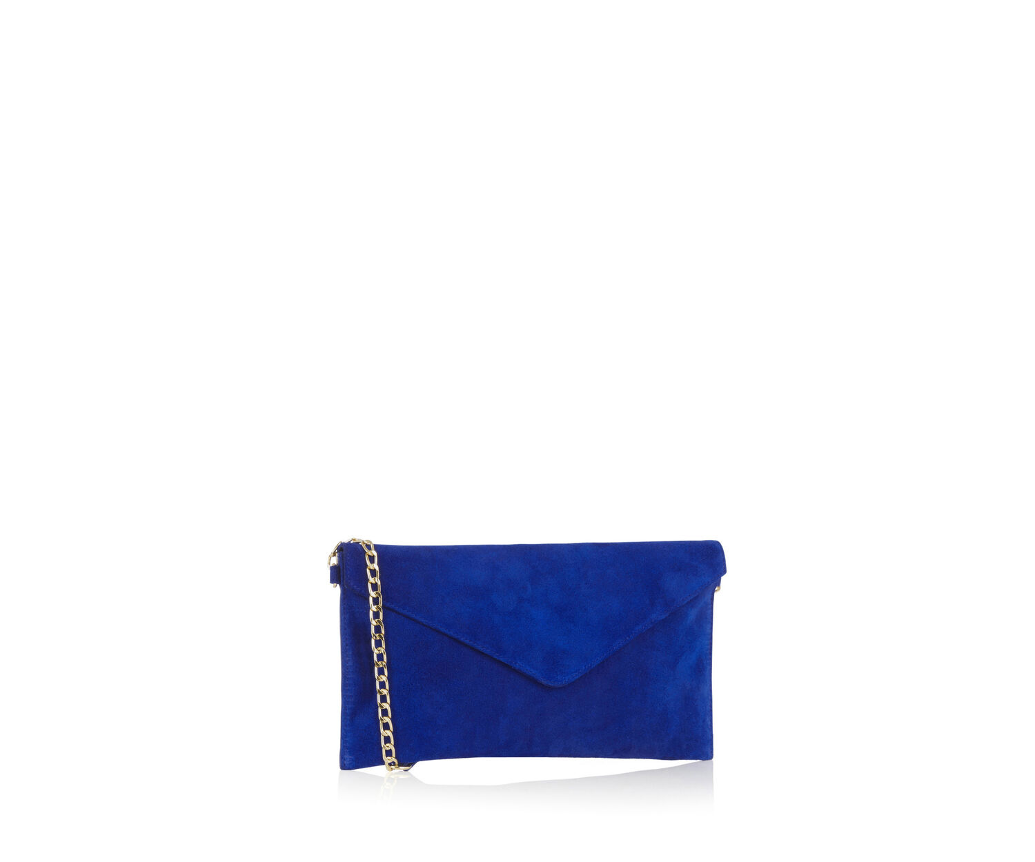 Oasis, SUEDE JESS ENVELOPE CLUTCH Rich Blue 1