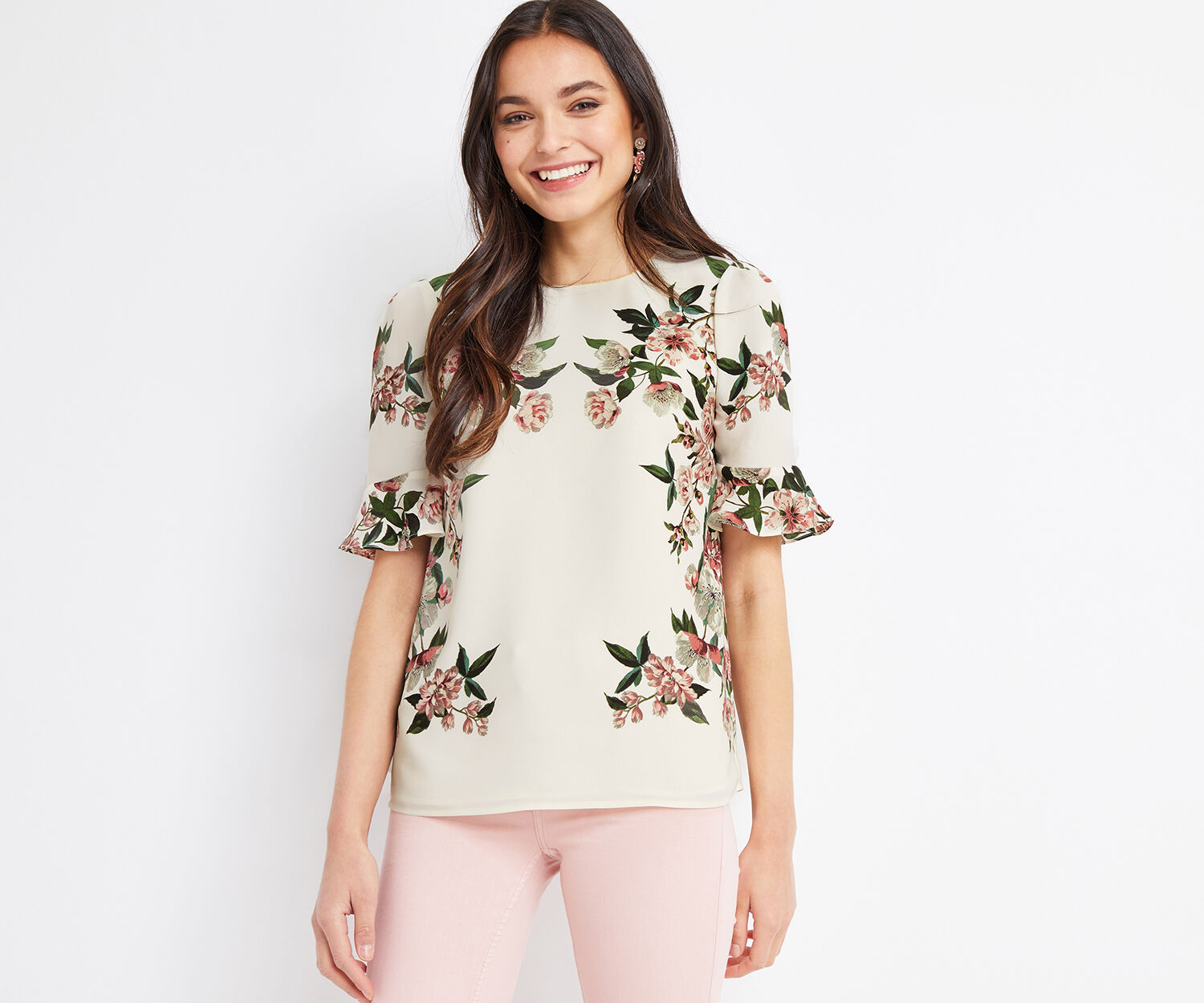 Oasis, ROYAL WORCESTER FLUTE SLEEVE T Off White 1
