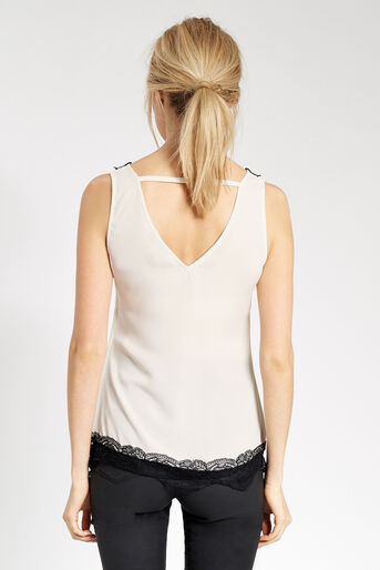 Oasis, LACE DETAIL TOP Off White 3