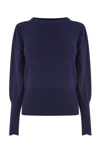Oasis, HISTORICAL SLEEVE KNIT Rich Blue 0
