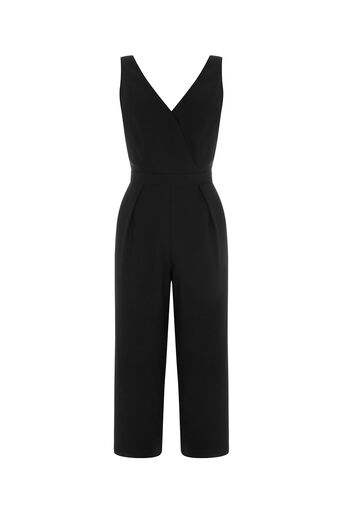 Oasis, CROP WIDE LEG JUMPSUIT Black 0