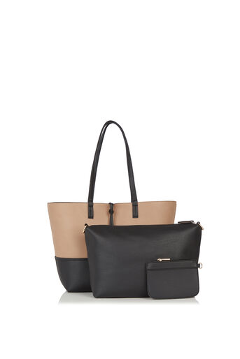 Oasis, Patched Reversible Shopper Multi Black 3