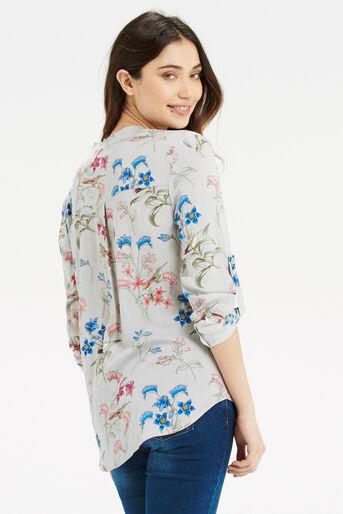 Oasis, Botanical Shirt Multi Grey 3