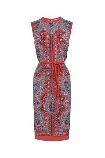 Oasis, PAISLEY PRINT DRESS Coral 0