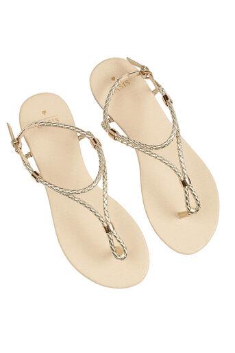 Oasis, Poppy Plait Sandals Gold 2