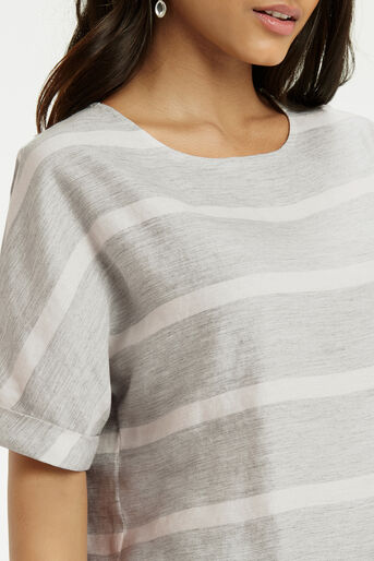 Oasis, Textured Stripe T-Shirt Multi 4