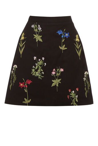 Oasis, Embroidered A-Line Skirt Multi 0