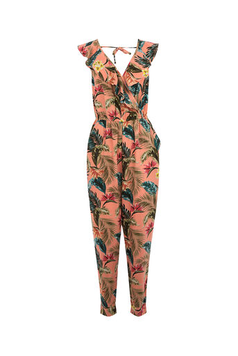 Oasis, TROPICAL PRINT JUMPSUIT Coral 0