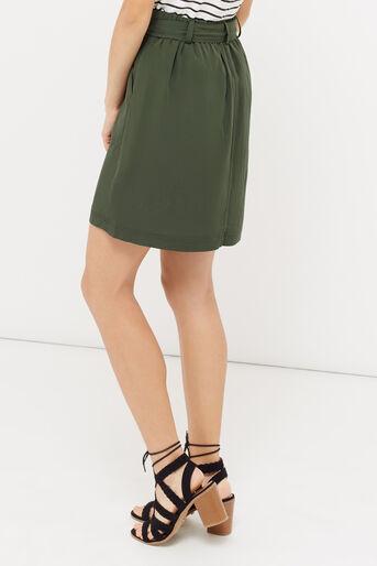 Oasis, Patch pocket utility skirt Khaki 3