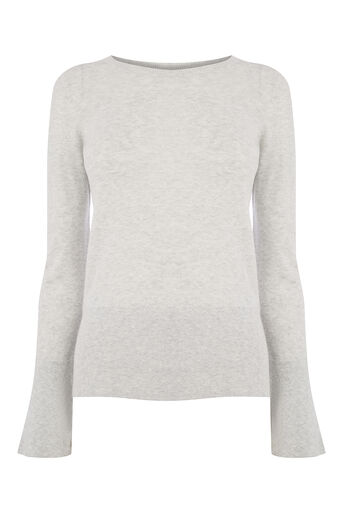 Oasis, Fluted sleeve knit Mid Grey 0