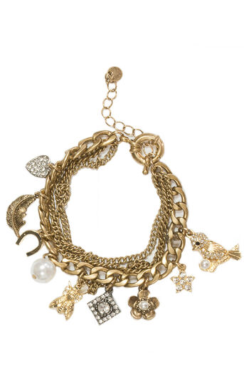 Oasis, LAYERED CHARM BRACELET Gold 0