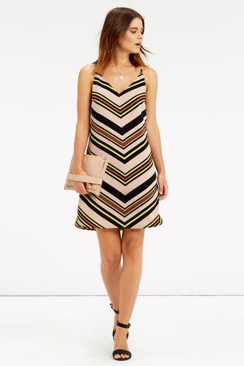 Oasis, Chevron Stripe Cami Dress Multi 2