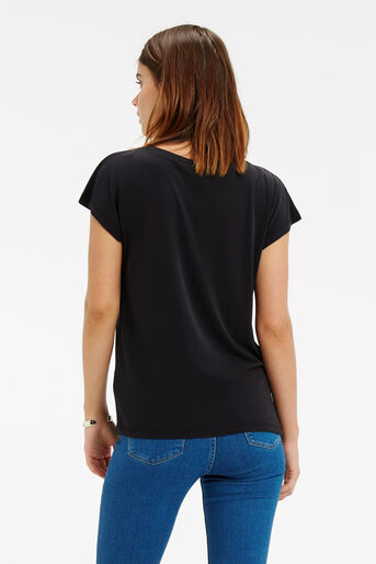 Oasis, Luxe Drape T-Shirt Mid Grey 3