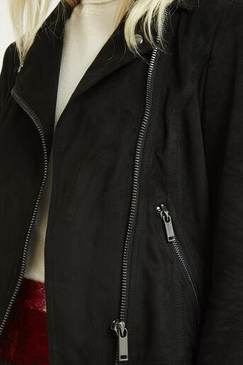 Oasis, Suedette Biker Jacket Black 4