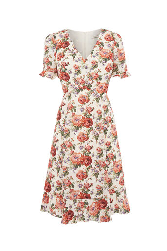 Oasis, LONG UTILITY ROSE TEA DRESS Multi Natural 0