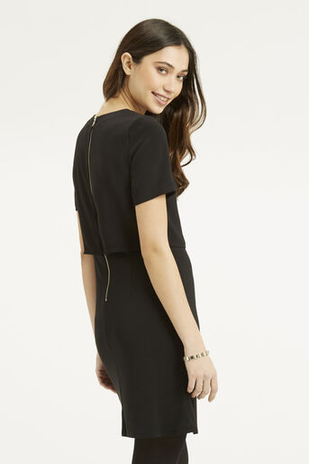 Oasis, Crepe 2 in 1 Dress Black 3