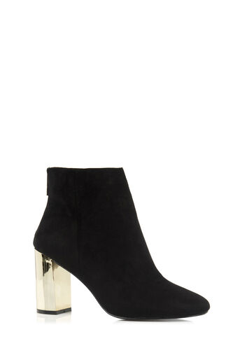 Oasis, GOLD HEELED BOOTS Black 0