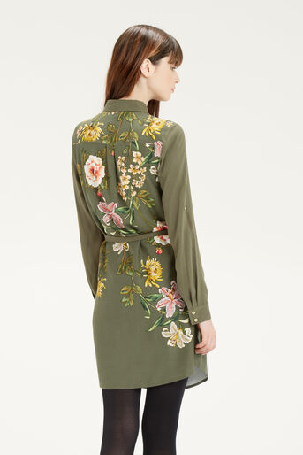 Oasis, Floral Print Shirt Dress Multi Green 3