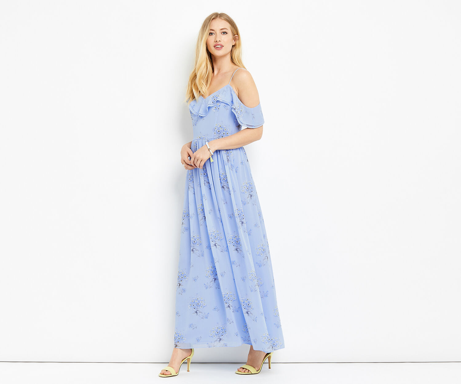 Oasis, DANDELION MAXI DRESS Multi Blue 1