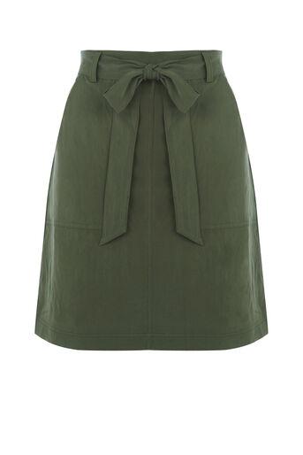 Oasis, Patch pocket utility skirt Khaki 0