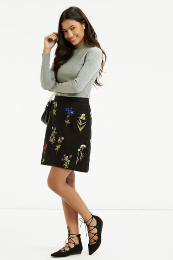 Oasis, Embroidered A-Line Skirt Multi 2