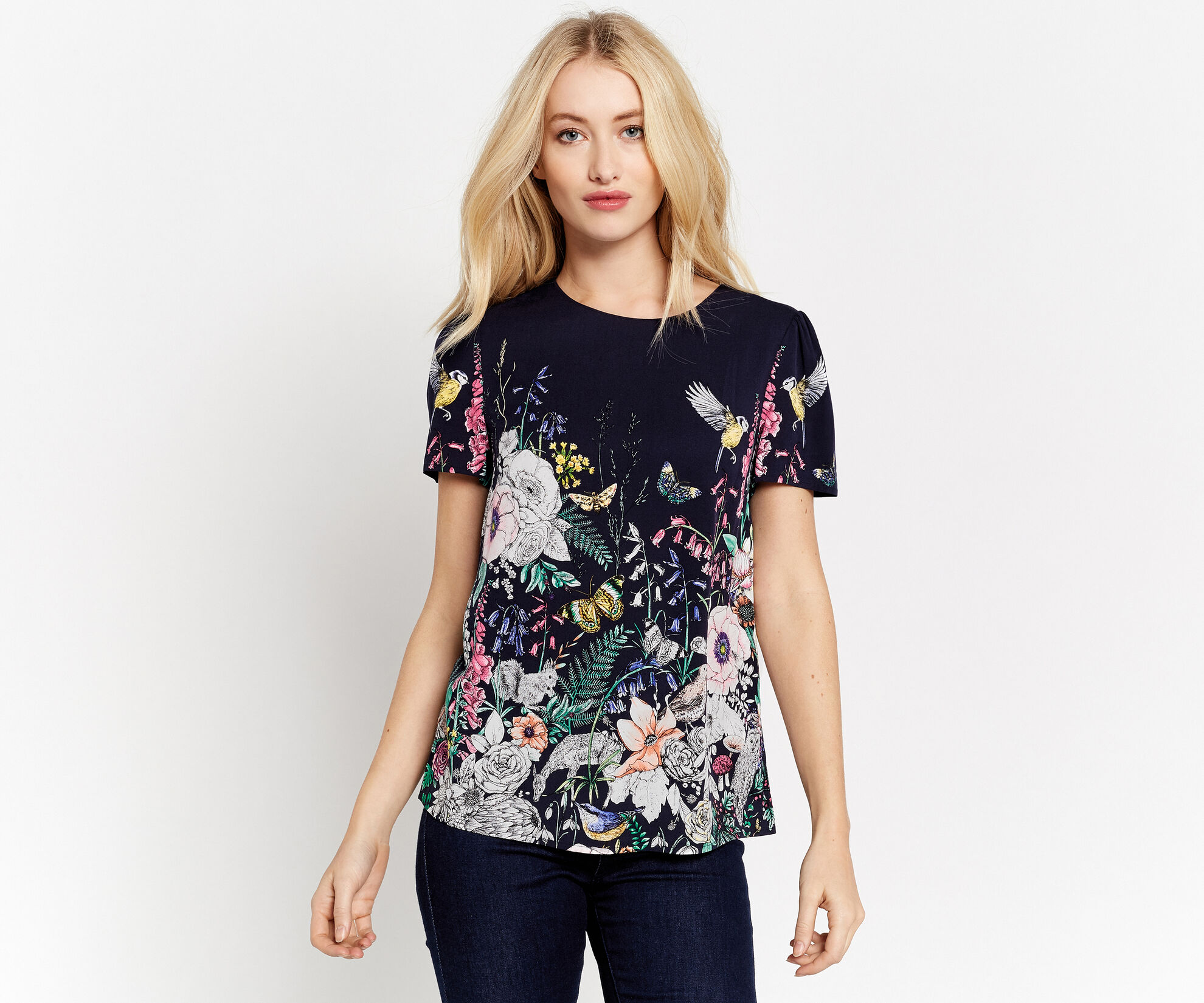 Oasis, ENCHANTED FOREST T-SHIRT Multi Blue 1