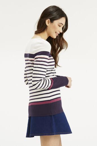 Oasis, Multi Coloured Stripe Crew Multi 3