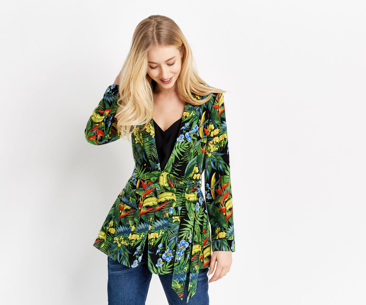 Oasis, TROPICAL CUBA SOFT BLAZER Multi 1
