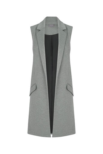 Oasis, Sophia Sleeveless Jacket Mid Grey 0