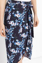 Oasis, TROPICAL BOTANICAL MIDI SKIRT Multi Blue 4