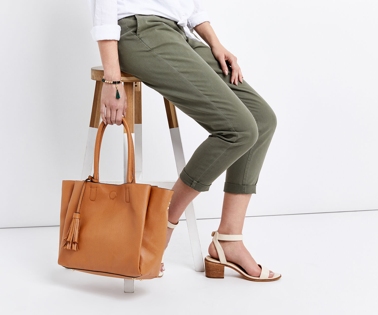 Oasis, TRUDY TOPHANDLE TOTE Tan 1