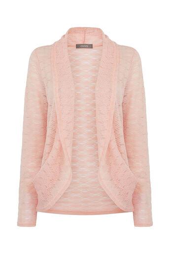 Oasis, Lace drape cardigan Pale Pink 0