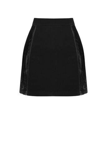 Oasis, PU PANELLED MINI SKIRT Black 0