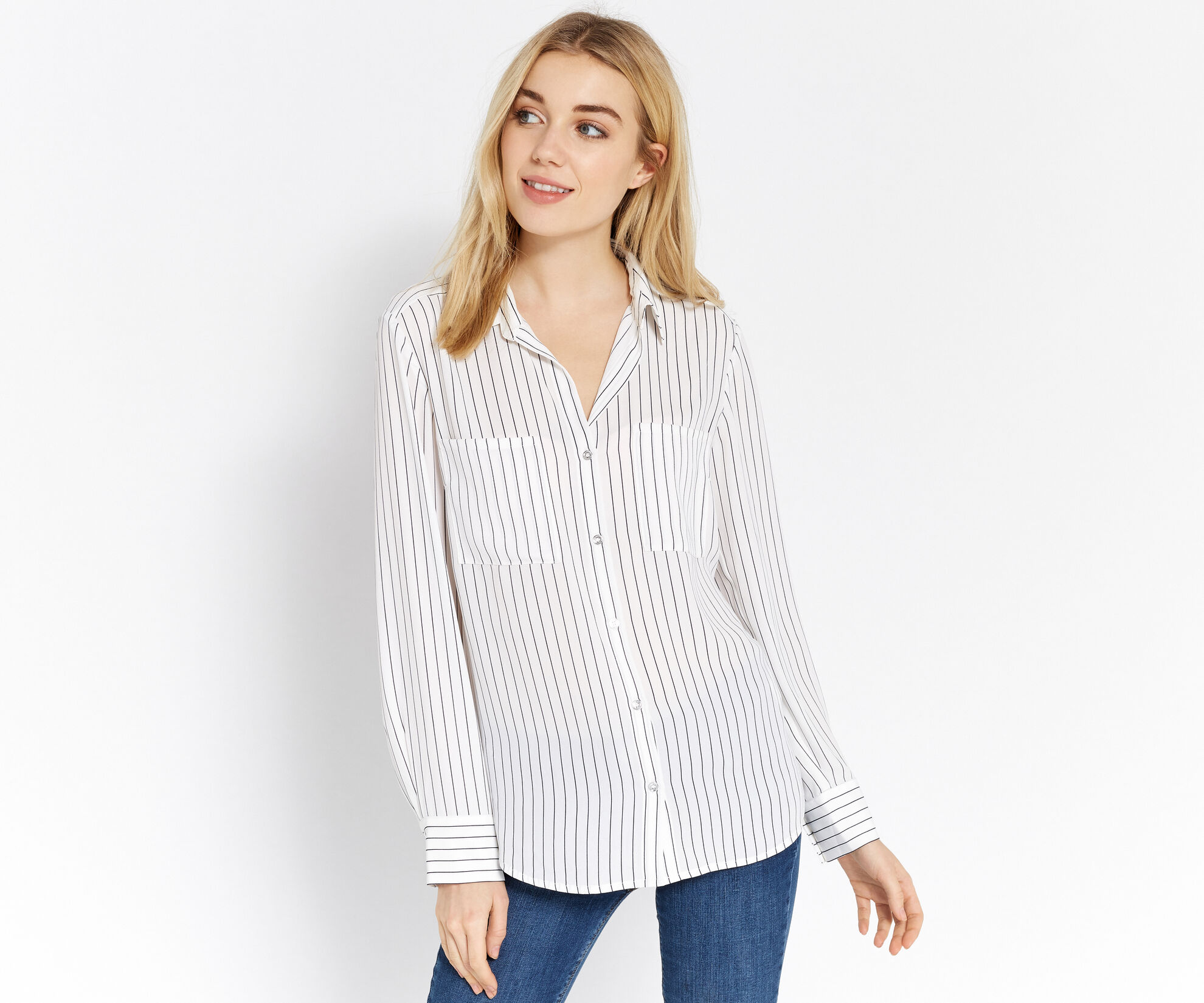 Oasis, STRIPE SHIRT Multi Natural 1