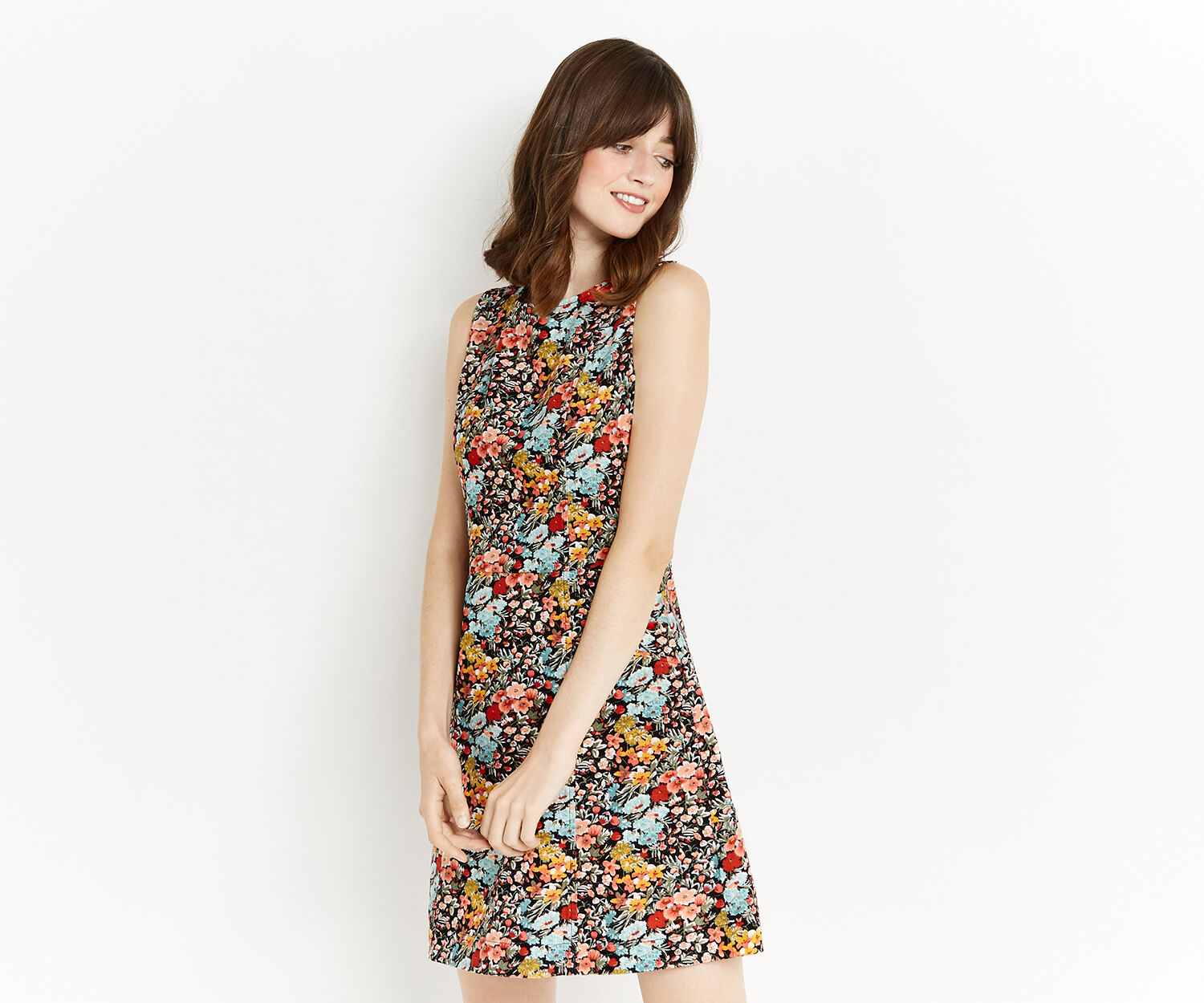 Oasis, PRINTED CUT ABOUT CORD DRESS Multi 1