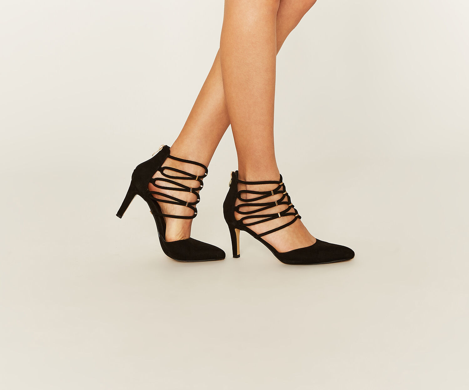 Oasis, CARRIE CAGE COURT SHOE Black 1