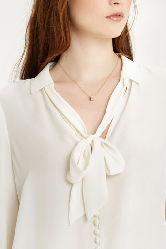 Oasis, Pussybow Blouse Off White 4