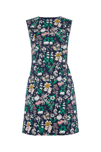 Oasis, The Print-Packed Shift Navy 0
