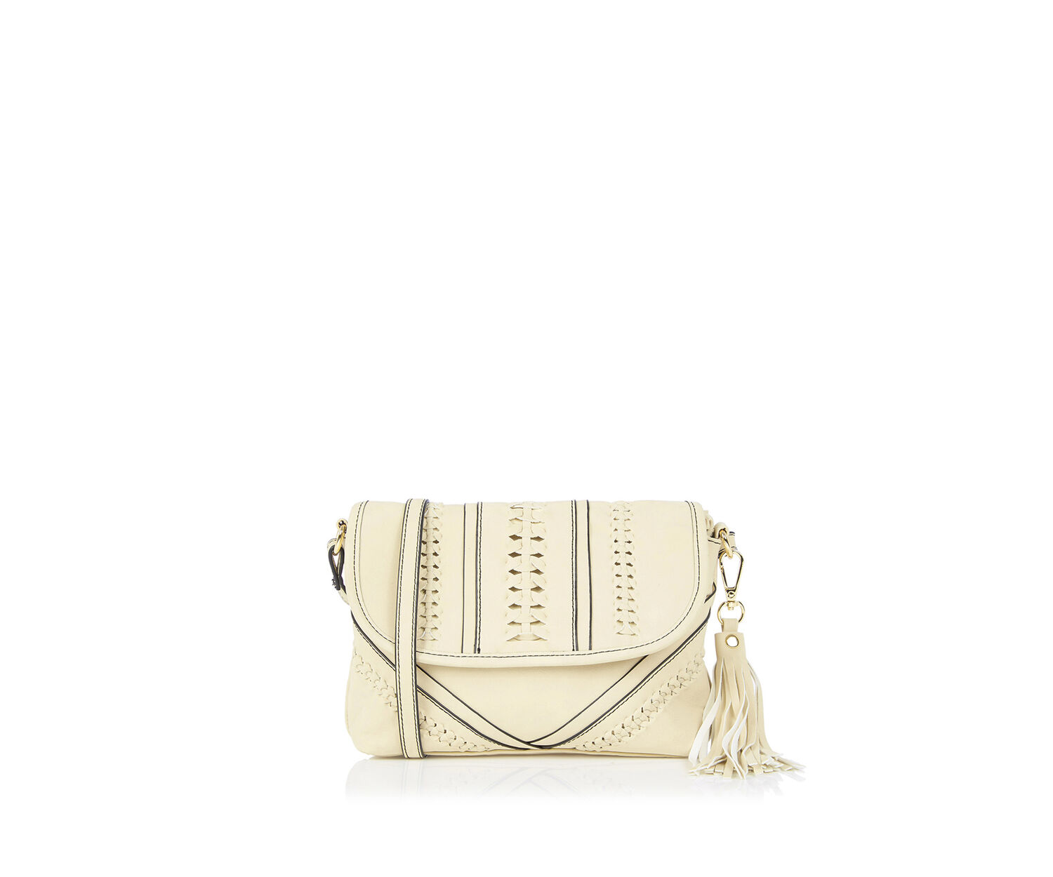 Oasis, Plait Cross-Body Bag White 0