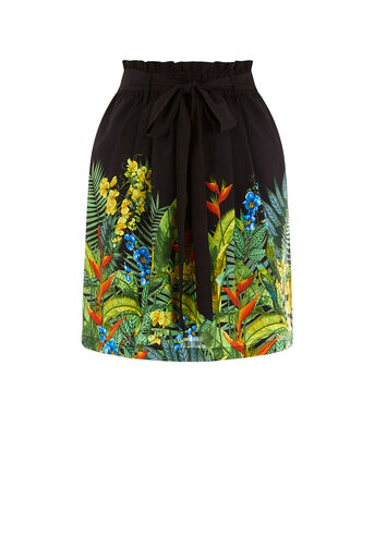 Oasis, TROPICAL PLACEMENT SKIRT Multi Black 0
