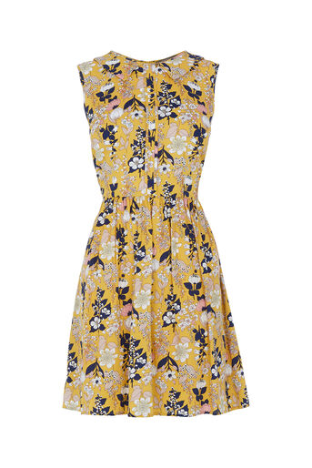 Oasis, Edie Floral Skater Multi Yellow 0