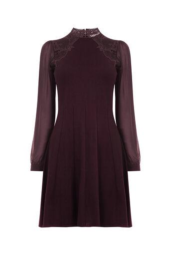 Oasis, Lace swing dress Burgundy 0