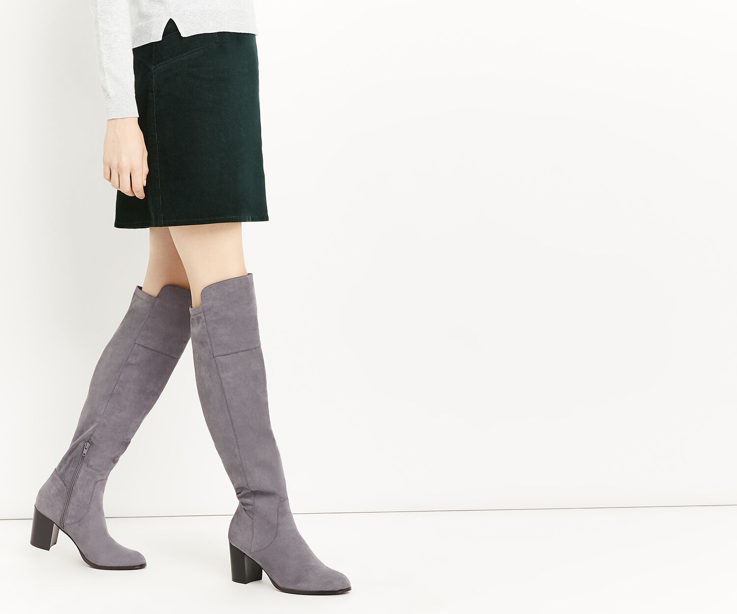 Oasis, BETTY OVER THE KNEE BOOT Mid Grey 1